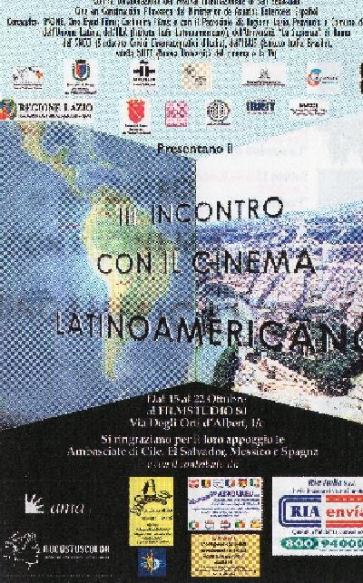 Terzo Incontro con il Cinema Latinoamericano